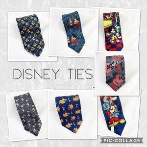 Set of 7 collectors Disney Ties